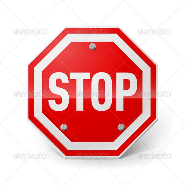 Metal Stop Sign