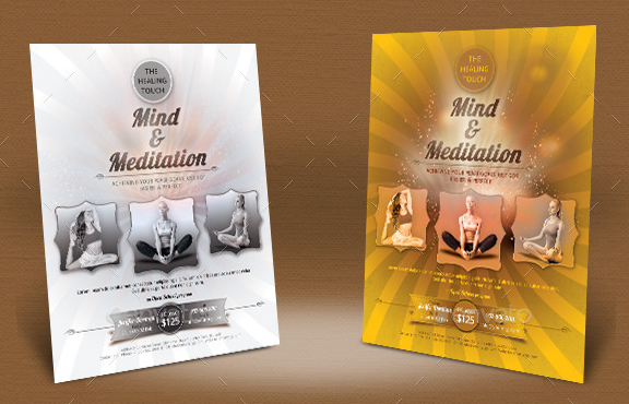 Mind and Meditation Flyer Templates
