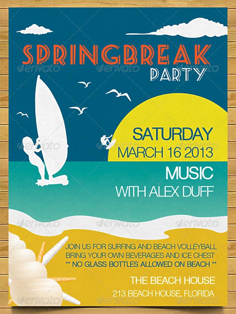 Minimalist Spring Break Invitation