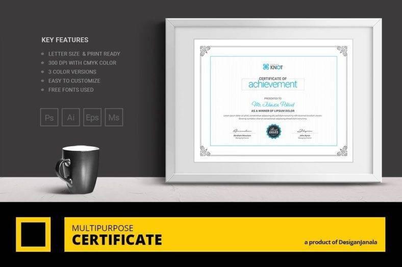 Modern Graduation Award Certificate