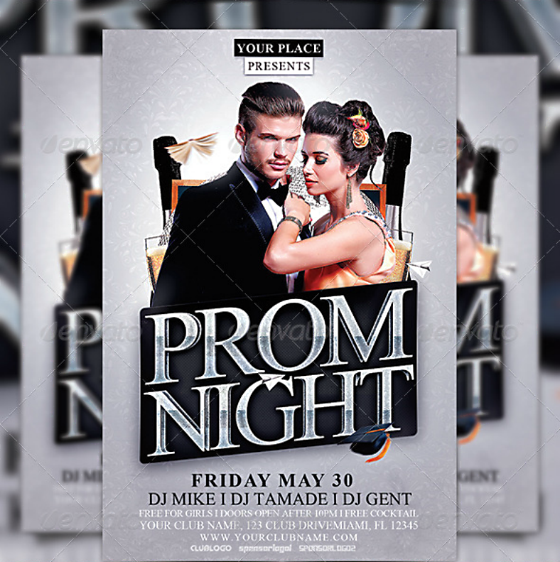 Modern Prom Night Party Flyer