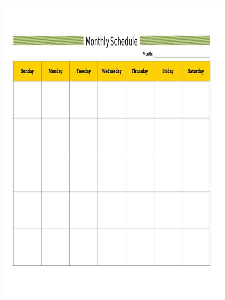 monthly shift calendar 788x1051