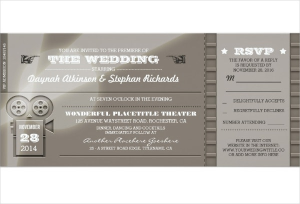 13 Cinema Invitation Designs Templates Psd Ai Free Premium