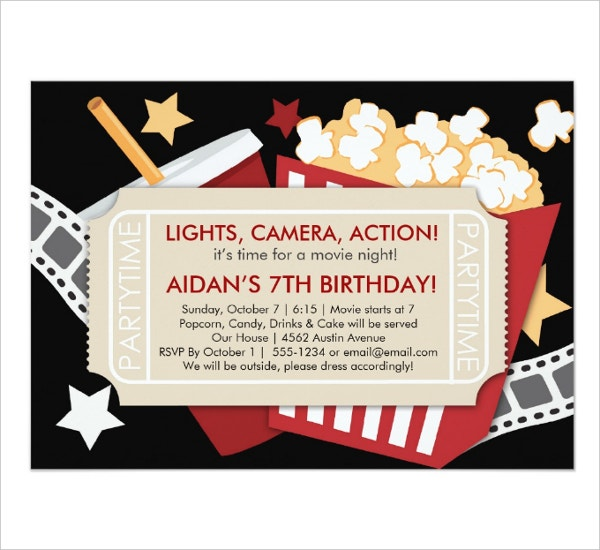 Movie Time Invitation