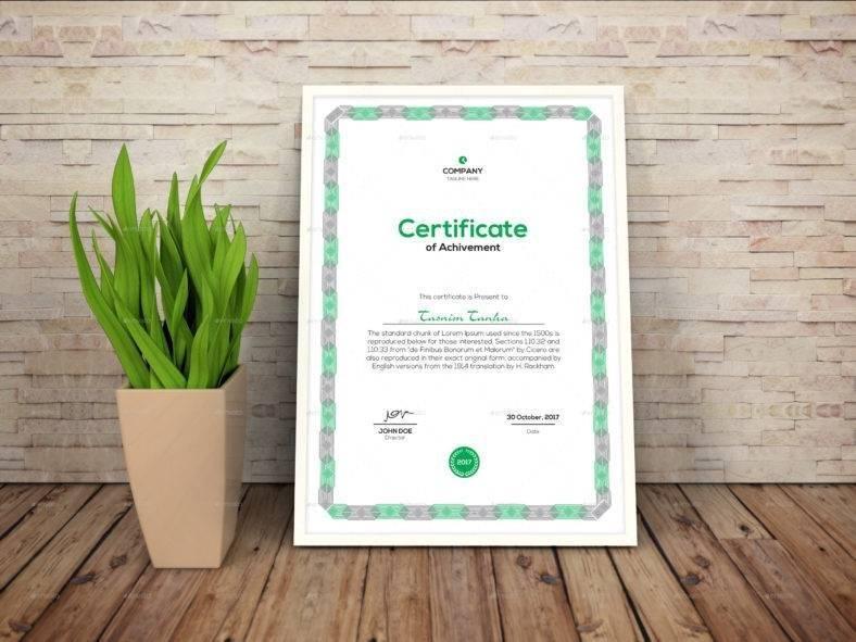 Multipurpose Achivement Certificate