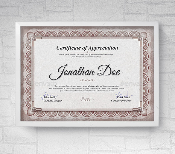 Multipurpose Appreciation Certificate