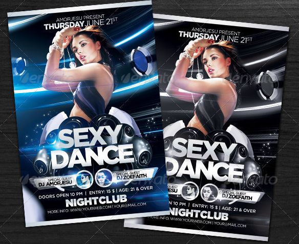 nightclub dance flyer template