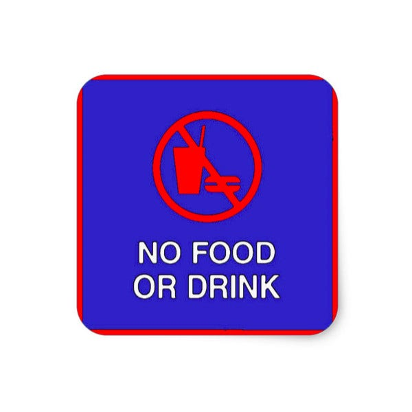 No Food Or Drink Sign Sticker