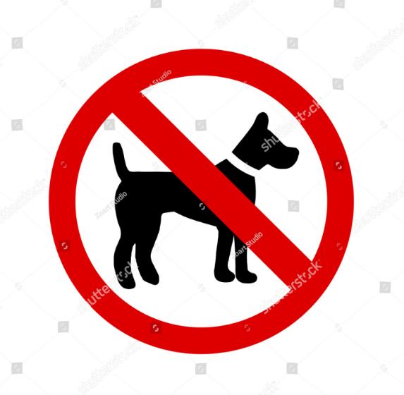 No Pet sign Template