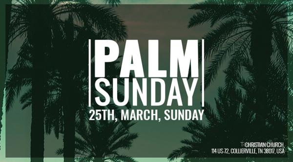 palm sunday facebook app cover template