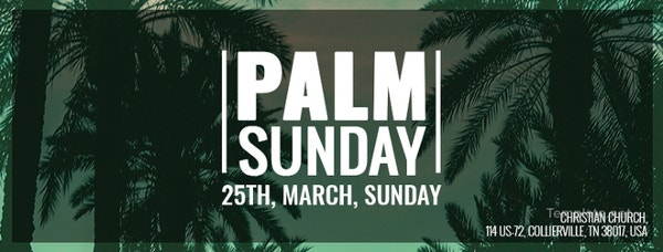 palm sunday facebook event cover template
