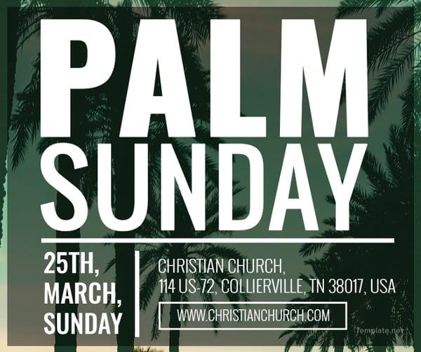 palm sunday facebook post template