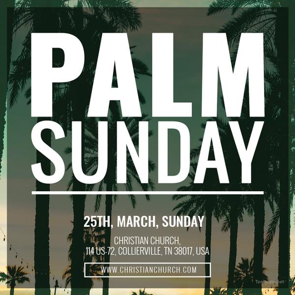 palm sunday instagram post template