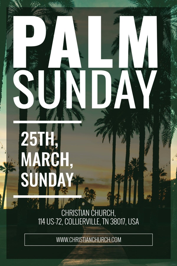 palm sunday poster template