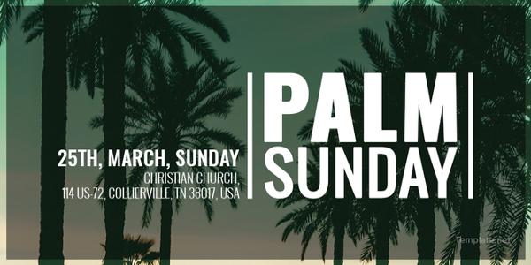 palm sunday twitter post template