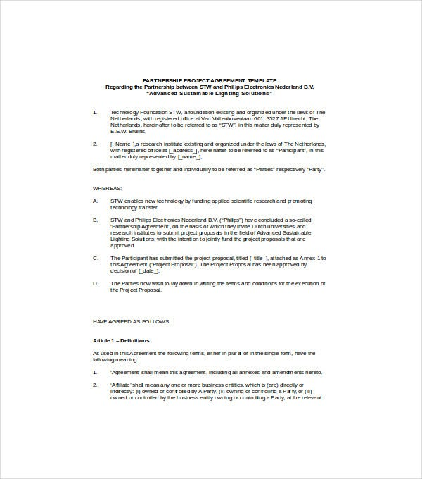 partnership project agreement1