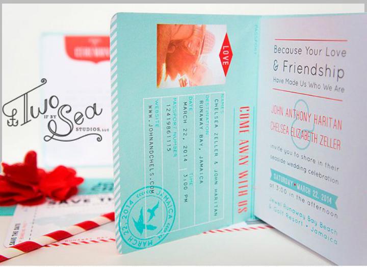 passport style printable wedding invitation template