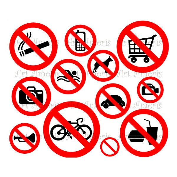 Pet Forbidden Sign