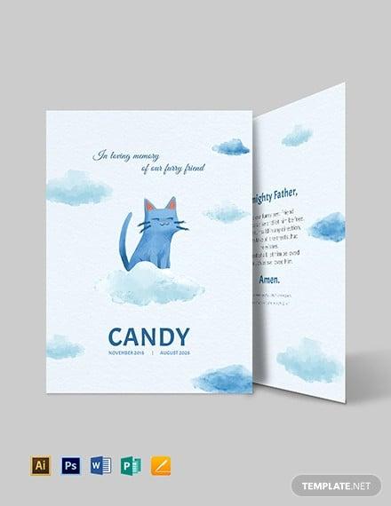 pet memorial card template