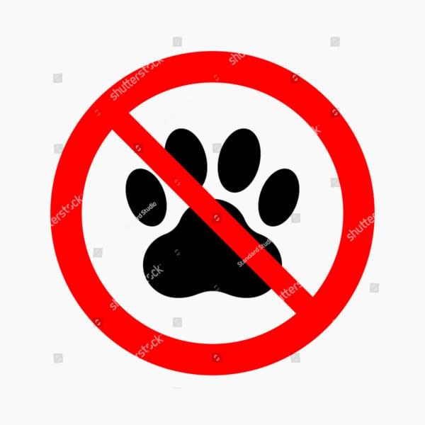 pets prohibition sign