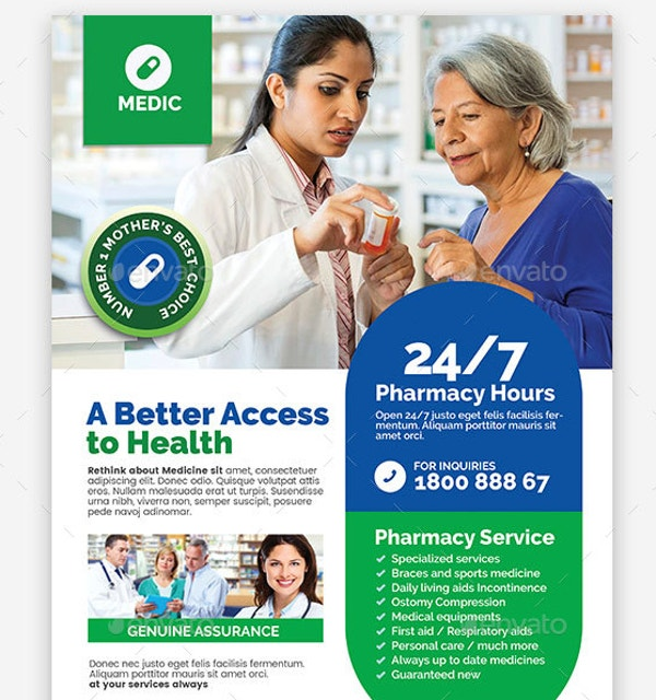 Pharmacy and Health Care Flyer