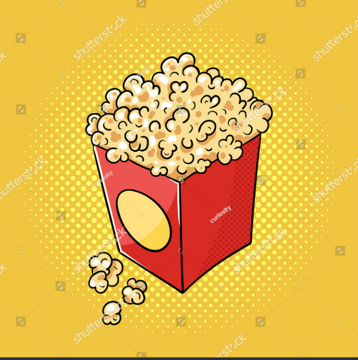 pop art popcorn menu illustration template