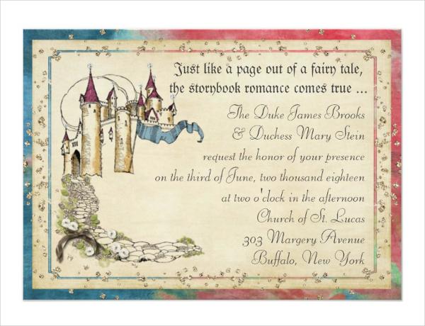 Princess Fairy Tale Invitation