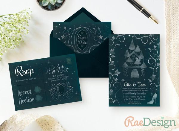 Printable Sparkle Wedding Invitation