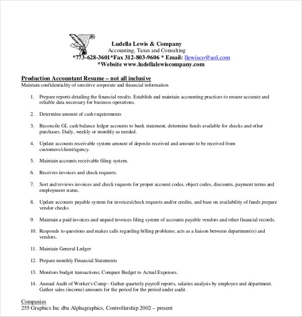 production accountant resume1