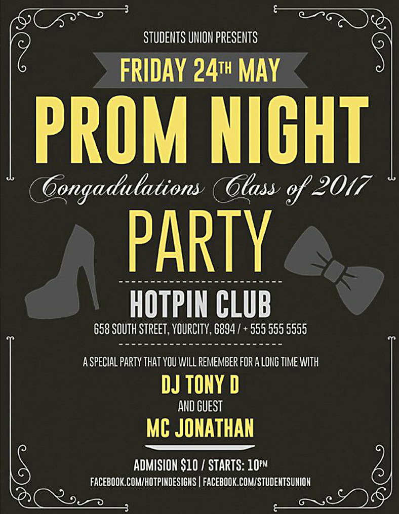 Prom Night Club Party Flyer Template