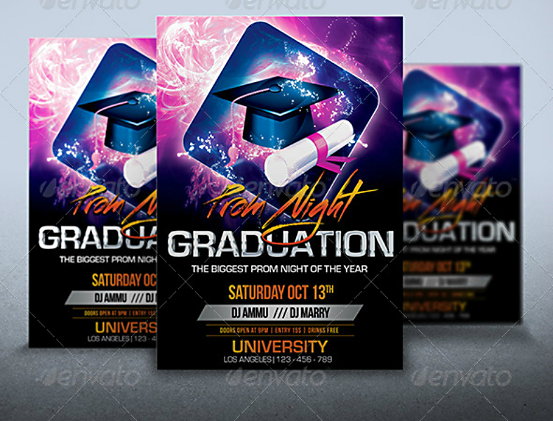 prom night graduation flyer template 788x600