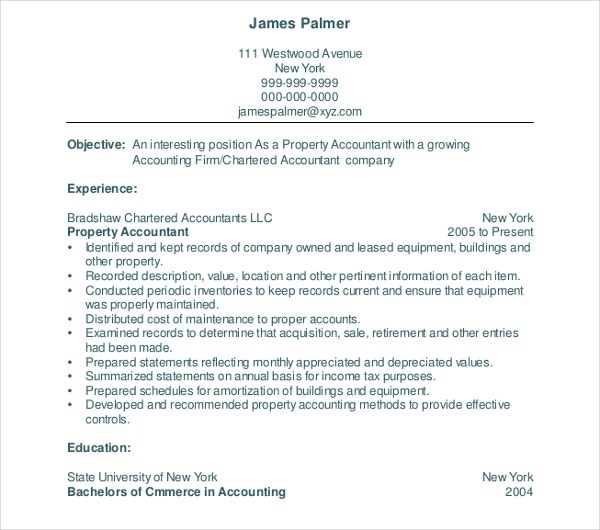 Property Accountant Resume  Property Accountant Resume