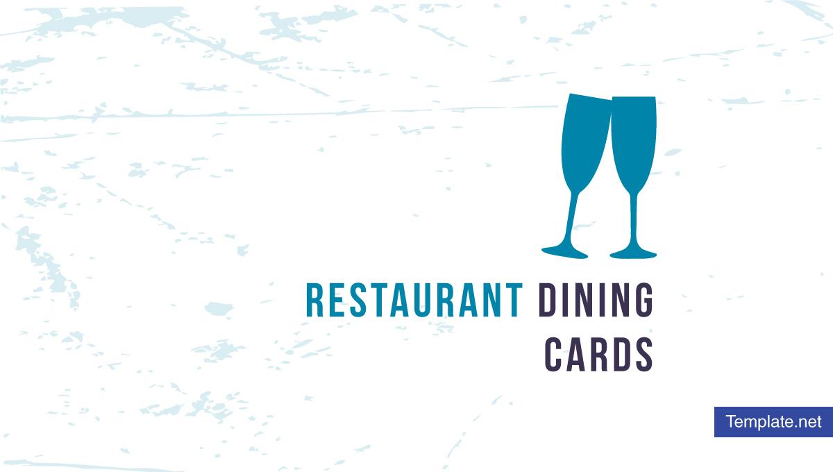 restaurant dining card templates designs