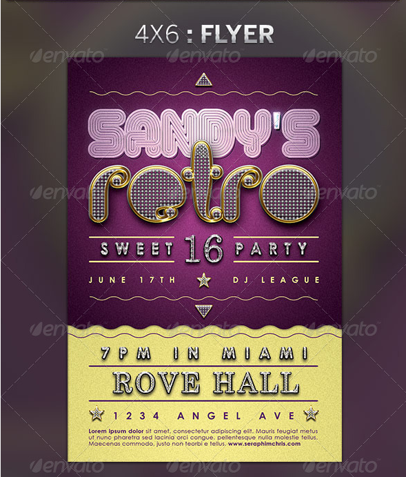 retro_sweet_sixteen_party_flyer_template