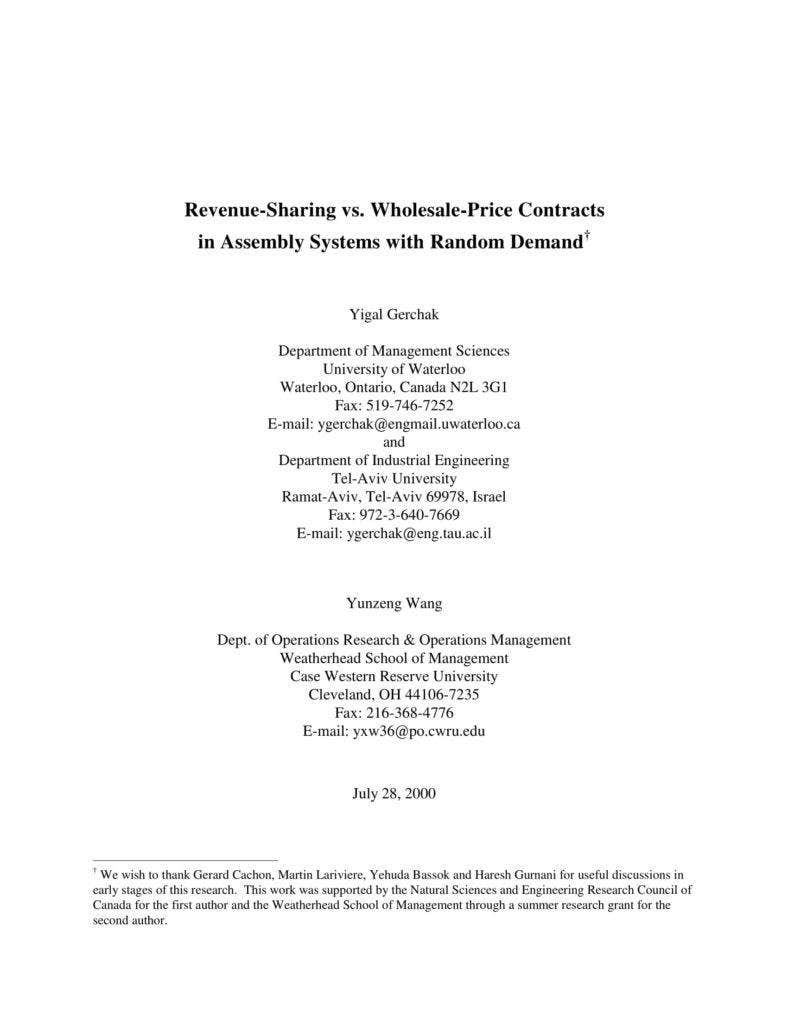 revenue sharing contract template - 6 wholesale agreement templates pdf free premium