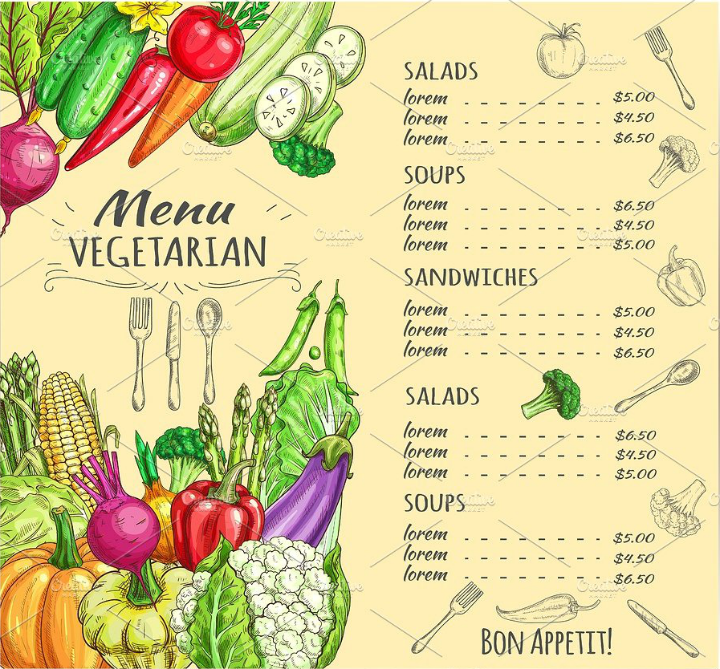rustic-vegetarian-salad-menu-template