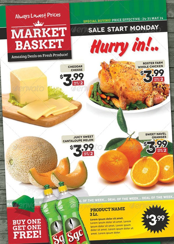 sale supermarket flyer template