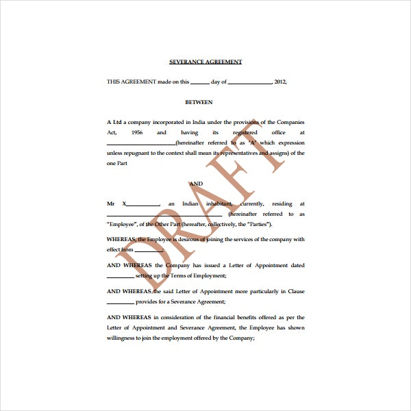 Sample Severance Agreement