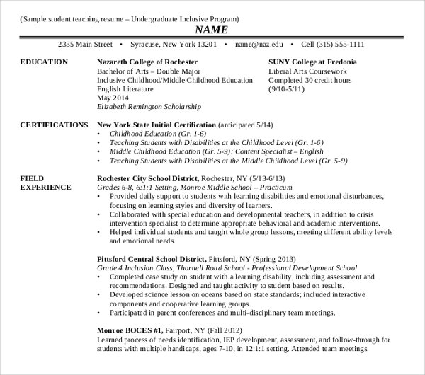15  teaching resume templates