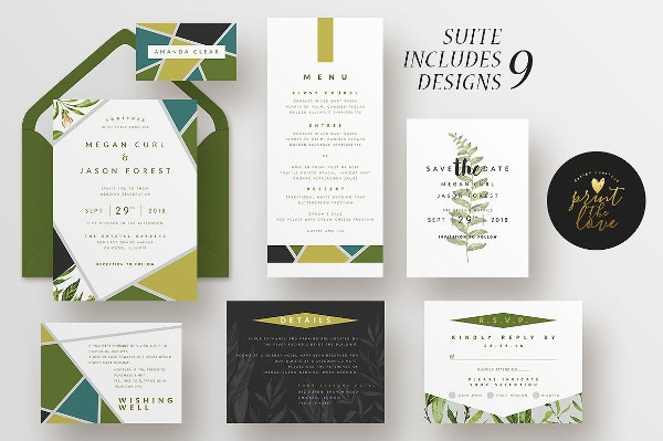 save the date reception menu template