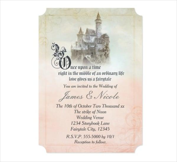 Simple Fairy Tale Wedding Invitation