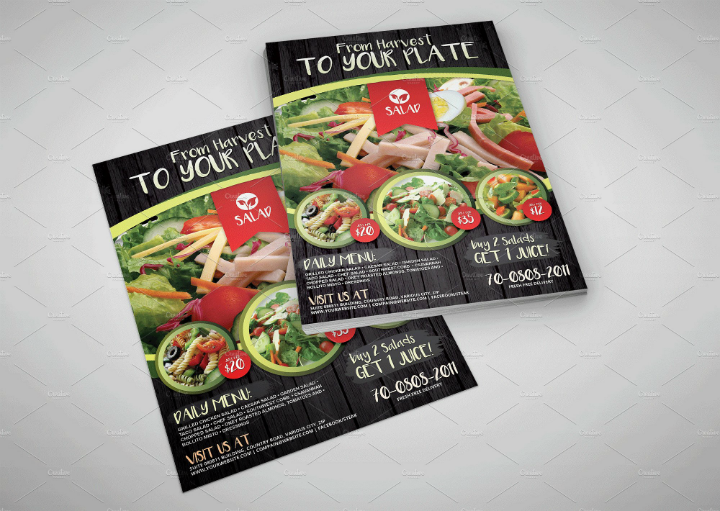 simple-vegetarian-salad-menu-food-flyer-template