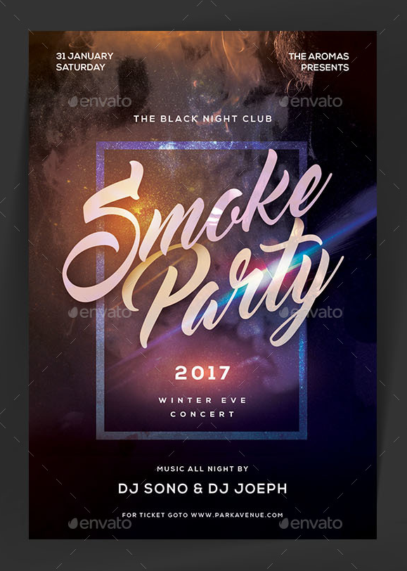 Smoke Party Flyer