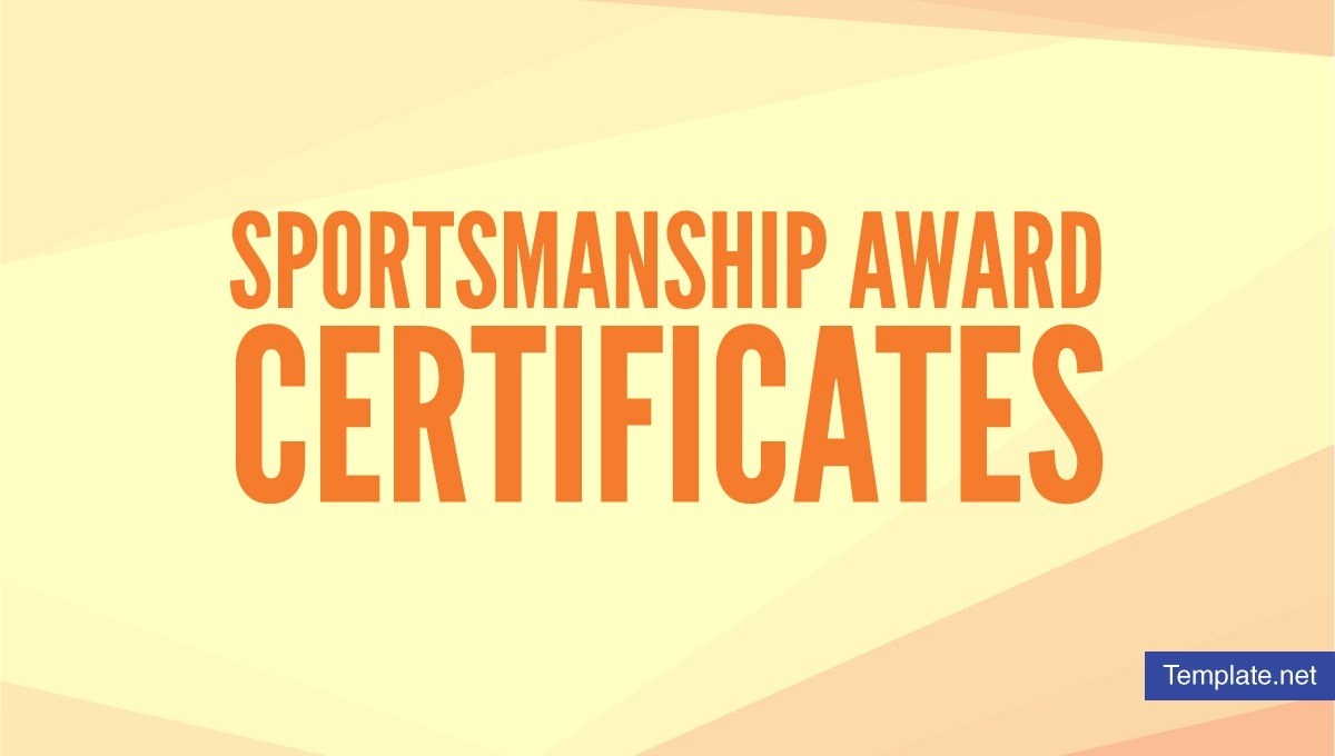 sportsmanshipawardcertificatedesigns
