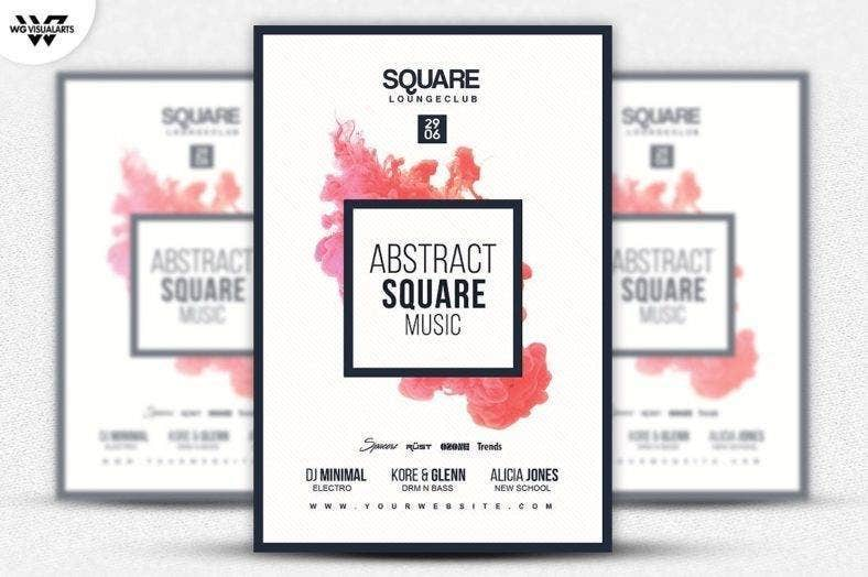 Square Abstract Flyer Template
