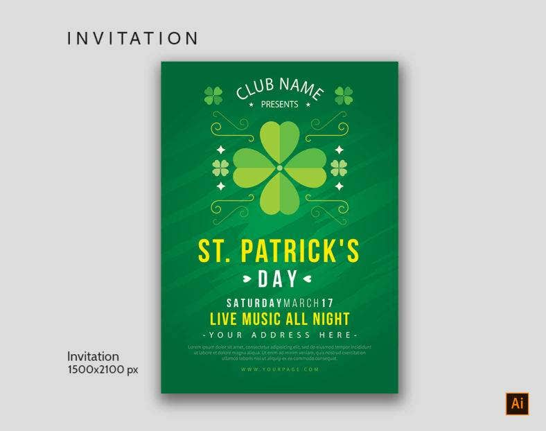 St Patrick's Day Invitation