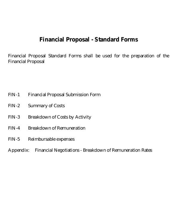 Financial Proposal Templates  Pdf Doc  Free  Premium Templates