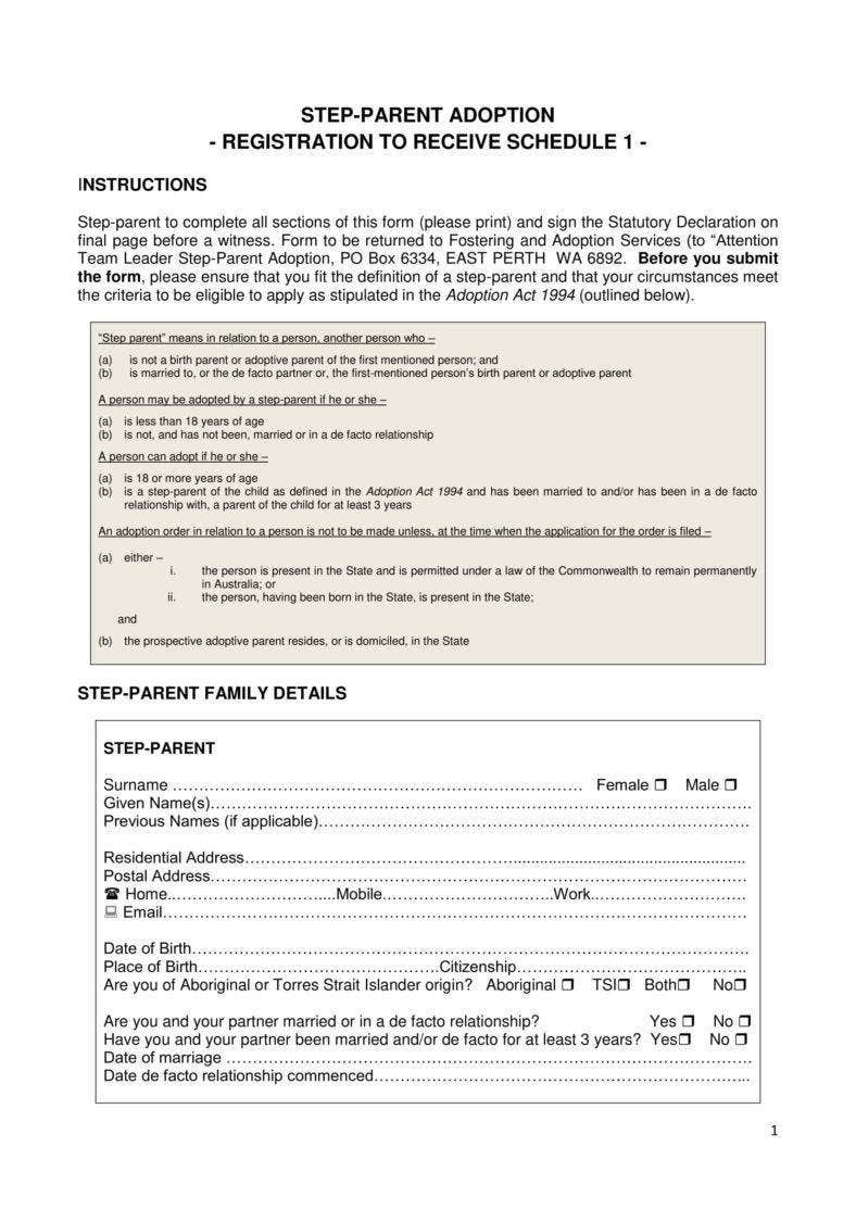 Step-Parent Adoption Paper