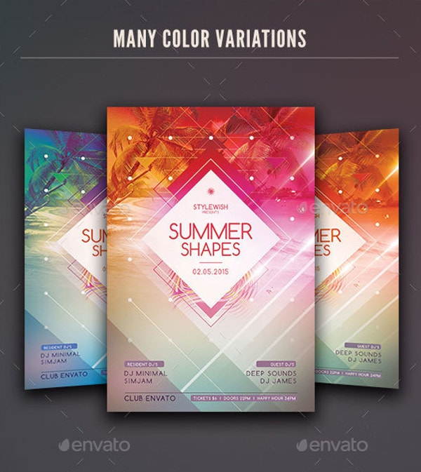 Summer Shapes Flyer Template