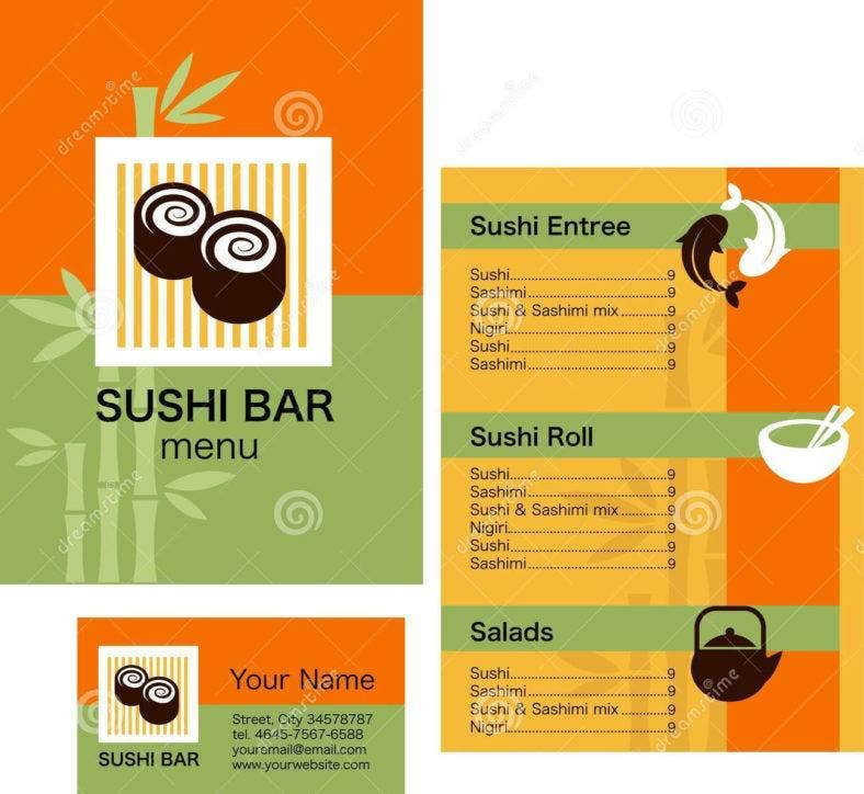 4  restaurant dining card templates  u0026 designs